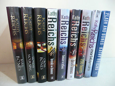 KATHY REICHS x 9 'Bones' Novels. 2 x SIGNED. All 1stEd. HB. 2003-2011. (S4)