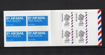 2004 GB Booklet. 4 x Worldwide Postcard Stamps.