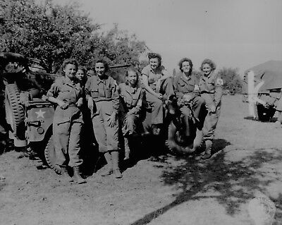 B&W Photo US Army Nurses in France 1944 WWII WW2 D-Day World War Two Normandy