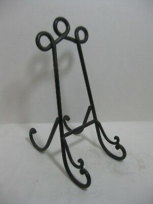 Vintage Cast Iron Black Book, Art  Signs Display Easel Stand Home Garden Decor