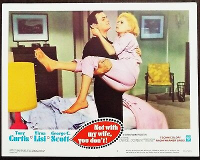 Not With My Wife You Don't 1966 Tony Curtis Virna Lisi Original US Lobby Card