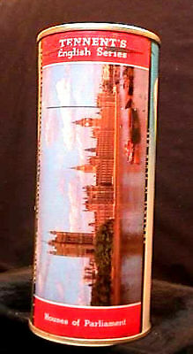 Tennents Lager English Series - 1950's 16Oz Flat Top Can - Houses Of Parliament