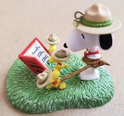 Hallmark Peanuts Snoopy Woodstock Scout Ornament 2014 Knot book