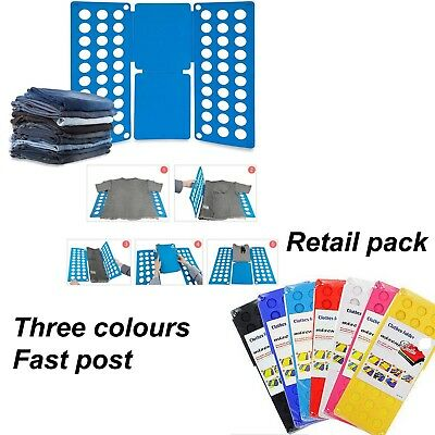 Adult Magic Clothes Folder Organiser T Shirt Jumper Easy Fold Laundry Uk Seller