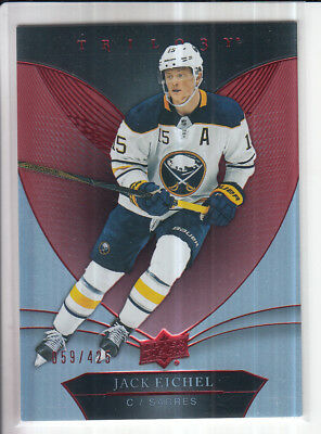 18/19 Ud Trilogy Jack Eichel Red Base Parallel /425 #26