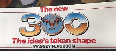 Massey Ferguson 300 series tractor brochure poster Coventry Banner Lane 399 390