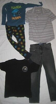 Mixed Lot of Boys Clothing Tops, Pant, and PJ's, GAP, Quiksilver + Size 8/10, 10