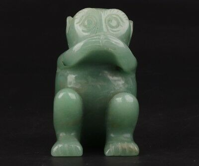 Precious ChinA Dongling Jade Statue Hand-Carved Animal Monkey Mascot Gift