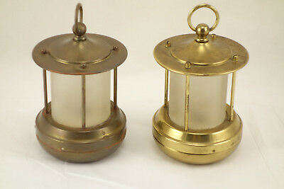 Pair of Vintage 1932 Chase 2-Cell Mini Portable Electric Lamp Nautical Lantern