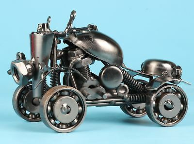 Rare Iron Hand-Carved Motorcycle Model Cool Tide Exclusive Customization