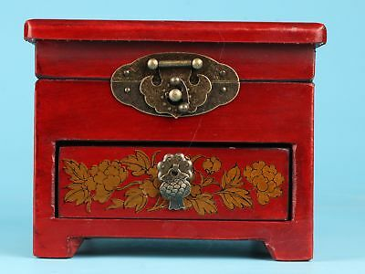 Precious Unique Red Leather Jewelry Box With Mirror Decoration Collec