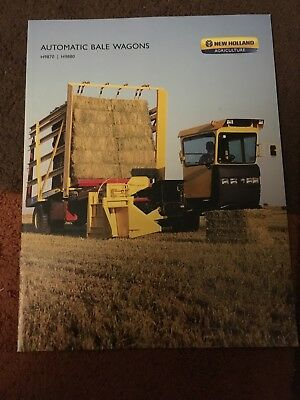 New Holland Stackliner self-propelled auto bale wagon combine tractor brochure