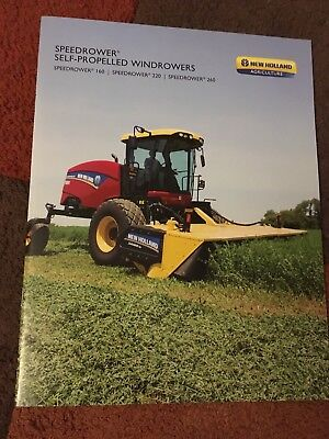 New Holland Speedrower SP windrower swather US market combine tractor brochure