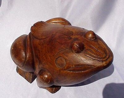 Large Wood FROG w/ Hidden Compartment