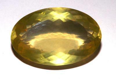 Lemon Yellow Quartz Natural Earth Mined 43.90 Cts 30 x 19 mm oval Gem #dlq654