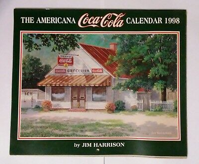 Coca Cola Wall Calendar--Jim Harrison--Coca Cola  1998 (Opened-Unused)
