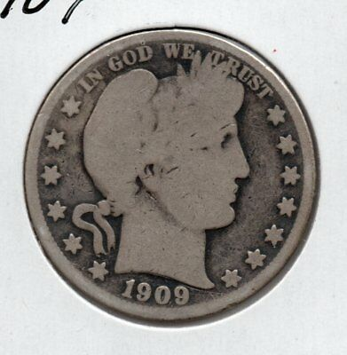 1909  Barber Half Dollar  great looking collector coin free ship in the USA