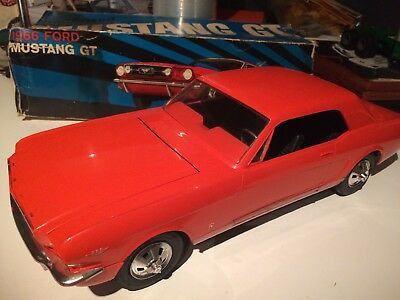 """VTG 1966 Ford Mustang GT AMF WEN MAC Battery Powered 16"""" L With Box"""