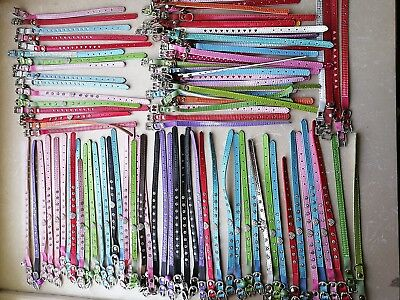 100pcs New Bling dog cat pets gift rhinestone puppy bow mixed collars wholesale