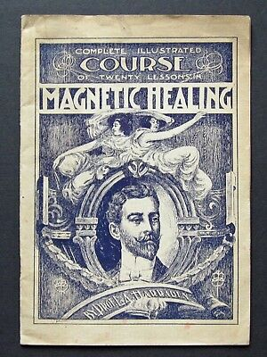 Rare 1899 Complete Illustrated Course in MAGNETIC HEALING - Jackson MI