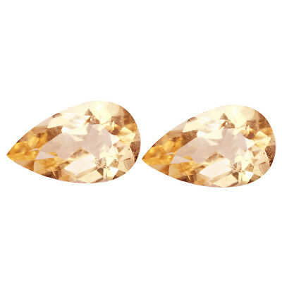 1.92Ct (2Pcs) PairSizzling Pear Cut 9 x 5 mm 100% Natural Pink Morganite