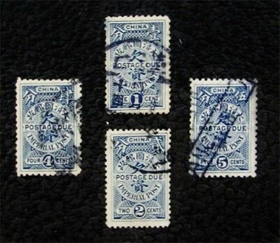 nystamps China Stamp # J8 - J11 Used $21
