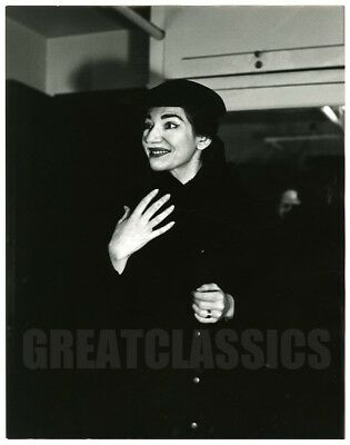 Maria Callas Madame Butterfly 1955 Oversize Dblwt Photograph Peter Basch Signed
