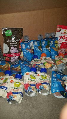 Baby food lot wet food pouches see pics fast free shipping