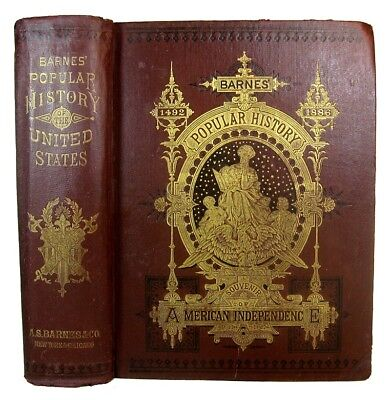 U.S AMERICAN HISTORY ILLUSTRATED 1878 Revolutionary Civil War INDIANS Slavery &c