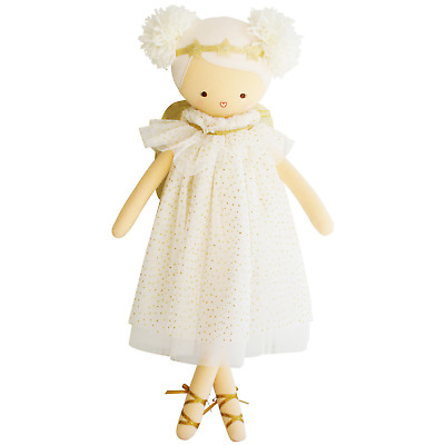 ALIMROSE ANGEL DOLL GOLD SPARKLE - 48cm