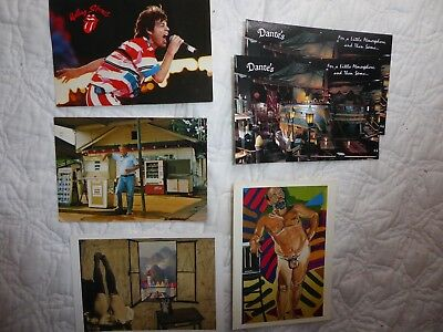 Lot of 6 vintage collectible postcards --Art,Music,Politics 5 new 1 used