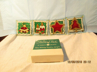 Christmas Glass Holiday Coasters Set Of 4 The Finishing Touch American Greetings