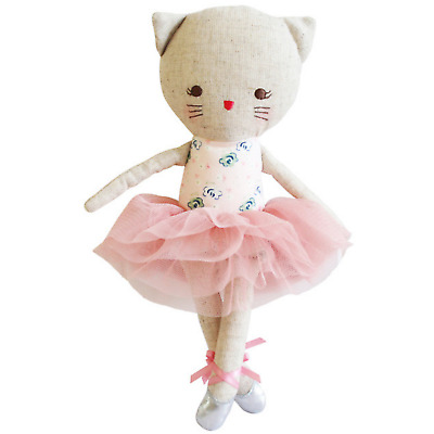 ALIMROSE ODETTE KITTY CAT DOLL BLUSH BALLERINA - 25cm