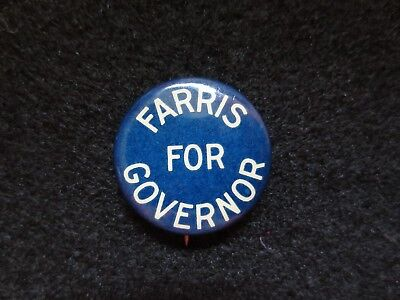 Celluloid Pinback for Lon L. Farris of Florida in 1916