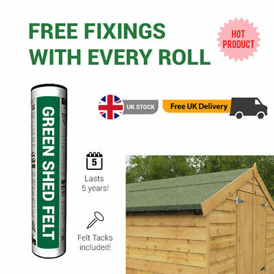 BillyOh Wooden Shed Felt | Mineral Roofing Felt | Green, Red, Black | 8m or 10m
