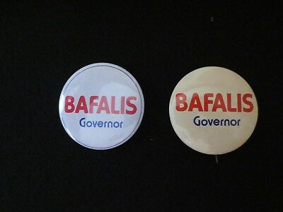 2 Celluloid Pinbacks for Skip Bafalis for Governor of Florida in 1982