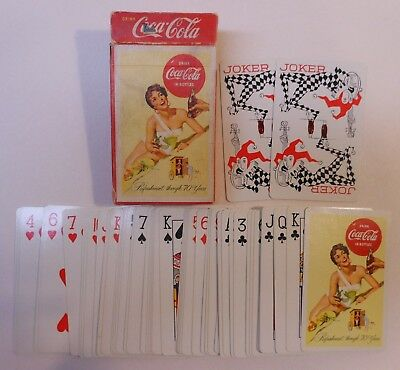 "Vintage Coca Cola 1956 ""Swimsuit"" Deck of Playing Cards"
