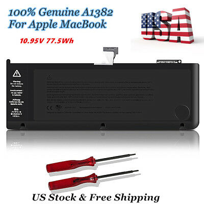 """OEM Genuine A1382 Battery for Apple MacBook Pro Unibody 15"""" A1286 2011 2012 New"""