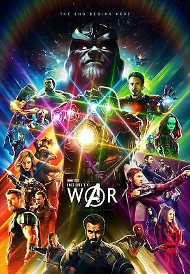 AVENGERS INFINITY WAR MOVIE Art Silk poster 8x12 24x36 24x43