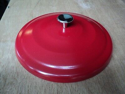 Red Metal Lid Only - For Lance Cookie Jar - - Marked Lance - Ex/cond.-  6 3/4""