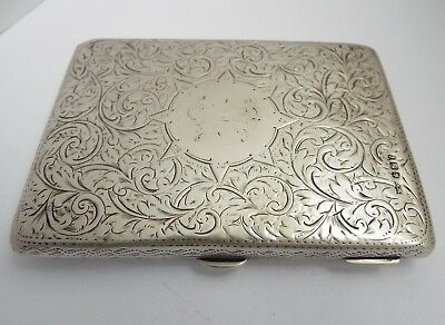 Lovely English Antique Victorian 1897 Sterling Silver Card Case & Aide Memoire