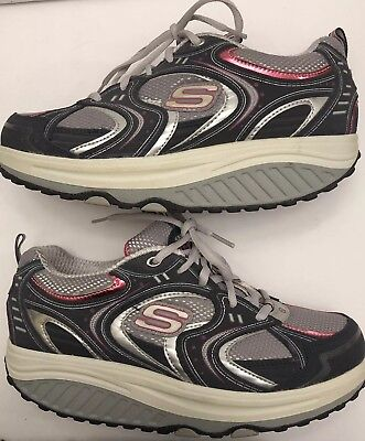 8f6f38102caf Skechers Shape Ups Womens 11806 NVSL Athletic Toning Walking Shoes Size US 8