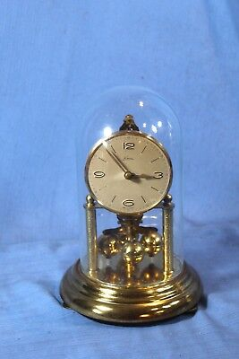German 400 Day Sub Miniature Antique Mantle Clock Kern Beautiful Runs Great!