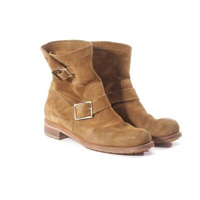 Jimmy Choo Boots Size D 40 Brown Women Shoes Boots Shoes Leather Leather Biker