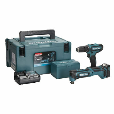 Makita Clx203Aj X1 10.8V Twin Kit Cxt Combi Drill + Multi Tool Hp331D Tm30 New