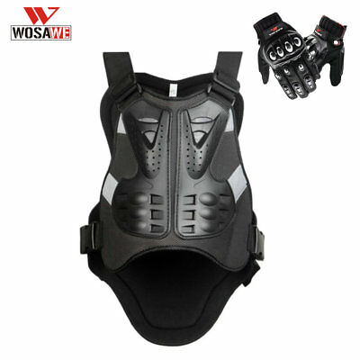 Motorcycle Motorbike Chest Armor Vests Full Finger Touch Screen Gloves Racing
