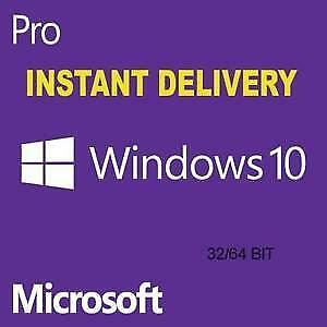 Microsoft Windows 10 Pro Digital Key Instant Delivery ✓1PC 32/64 Bit ✓