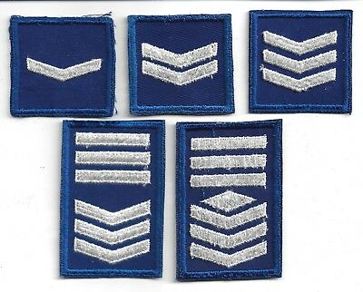 Lot Of 5 Vintage U.s. Civil Air Patrol(Cap) Rank Patches(M/p 3826)