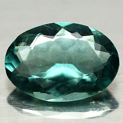 5.62 Ct Natural! Green China Fluorite Oval