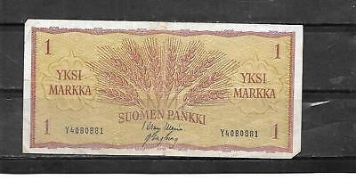 FINLAND #98a 1963 MARKKA VG CIRC OLD BANKNOTE PAPER MONEY CURRENCY BILL NOTE